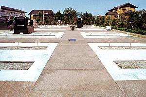 石貼りの参道